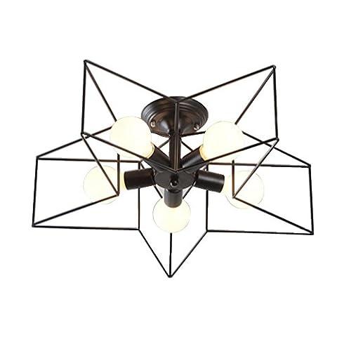 DDNL Modern Creative Simple Ceiling Light,E27 5-head Flush Mount Ceiling