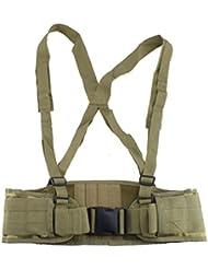 AGPtek MOLLE Cinturón Táctico y Policial Suave Acolchado Militario con Tirante (Camuflaje) para Caza Airsoft Paintball Deportes Al Aire