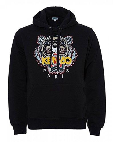 8d3e0d1bfeb2 Kenzo Mens Chinese Tiger Hoodie, Black Logo Sweat M Black