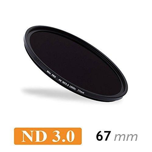 CameraPlus - Filtro neutro Slim S-PRO1 MC ND1000 a strati multipli da 67 mm Struttura sottile - 10 Stops + Tappo per filtro: alluminio