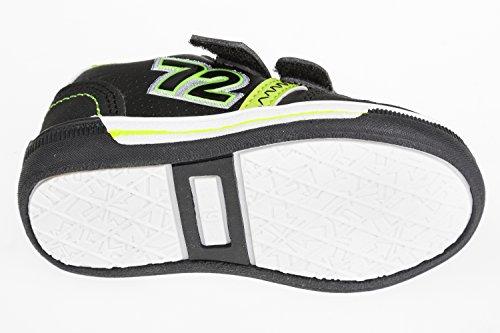 Chaussures de sport enfant avec fermeture éclair-noir/jaune fluo-taille :  25–36 Noir - Schwarz/Neongrün