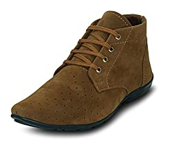 GET GLAMR Mens Tan Synthetic Chukka Boots - 10 UK