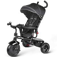 besrey Kids Trike Children 3 Wheel Tricycle 4 in 1 Push Handle(Grey/Red)