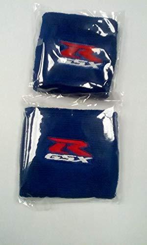 Par Azul Suzuki GSX R Moto Delantero y Trasero Depósito Líquido de Frenos Cubiertas Funda Funda