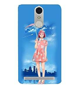 Fuson Designer Phone Back Case Cover Lenovo K5 Note :: Lenovo Vibe K5 Note Pro ( Girl With Her Umbrella )