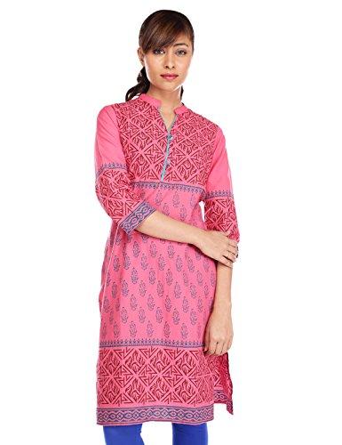 Pink almirah Women Fuchsia Printed Kurta  available at amazon for Rs.319