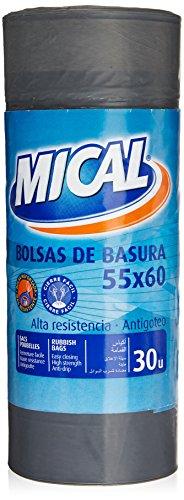 Mical - Bolsas de basura - 55x60 - 30 unidades - [Pack de 3]