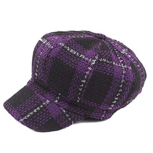 Knitted HAT Home Der strickende Karierte Ivy Zeitungsjunge Cabbie Gatsby der Paperboy-Maler-Hüte der Frauen