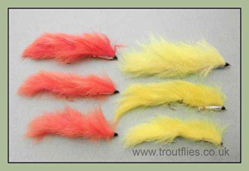 Poisson Crâne Poisson-Appât Heads-fly tying pondérée Streamer têtes en 7 couleurs neuf!