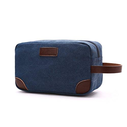 Jia Qing Bagagli Cosmetici Multifunzionali Da Donna Bagagli Cosmetici General Thick Cosmetic Bag Blue