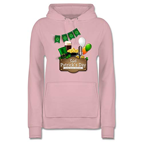 aint Patrick's Day Happy Music Festival - S - Hellrosa - JH001F - Damen Hoodie ()