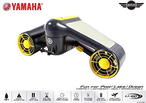 Yamaha Seascooter Seaflyer SeaWing Lithium Batteria al Litio - Propulsore Subacqueo - Km/h 6,5 - profondità Mt 40-2 velocità - Watt 480 - Potente - Novita