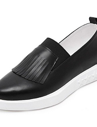 ZQ gyht Scarpe Donna-Mocassini-Casual-Comoda-Plateau-PU-Nero / Bianco , white-us8.5 / eu39 / uk6.5 / cn40 , white-us8.5 / eu39 / uk6.5 / cn40 white-us6 / eu36 / uk4 / cn36