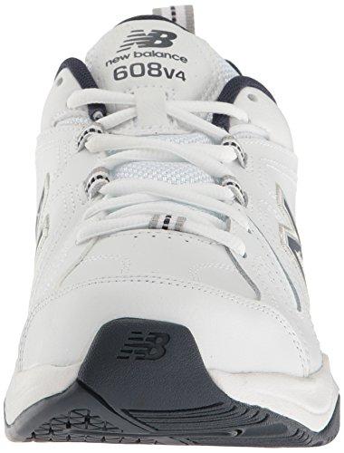 New Balance Men's MX608V4 Training Shoe,Black,10 D US White/navy