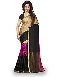 Reeva Trendz Pink Color Cotton Silk Fabric Beautiful Saree(Women's Clothing Saree For Women Latest Design And...