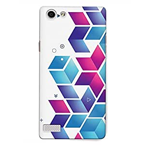 CrazyInk Premium 3D Back Cover for Oppo Neo 7 - Abstract Boxes Pattern