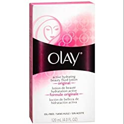 OLAY Active Hydrating Beauty Fluid Original 4 oz (Pack of 3)