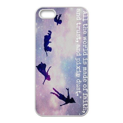 """Peter Pan Design Étui pour l'iPhone 5/5S, Personalized Coque pour iPhone 5S """", Customize Peter Pan TPU Phone Case Housse de Protection Coque Housse étui Cas Back Cover pour Iphone 5/5s"""