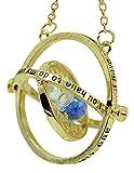 H & H UK - Collar con Colgante de Reloj de Arena Estilo Giratiempo Falcao Horrocrux, en bolsita de Terciopelo - 05 Blue