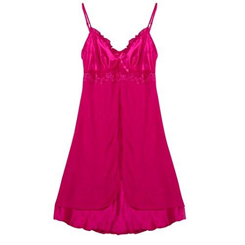 Sexy Babydoll Dessous für Frauen für Sex Plus Größe Mingfa Spitze Unterwäsche Nachtwäsche Nachtwäsche 2XL hot pink