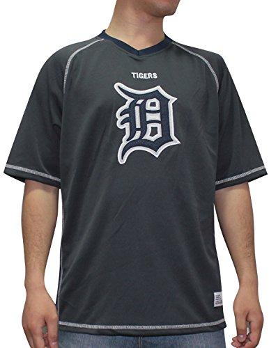 Licensed Apparel Det Tiger Herren Athletic Dri Fit Baseball Shirt, Herren, Dunkelgrau, X-Large - Tiger Athletic T-shirt