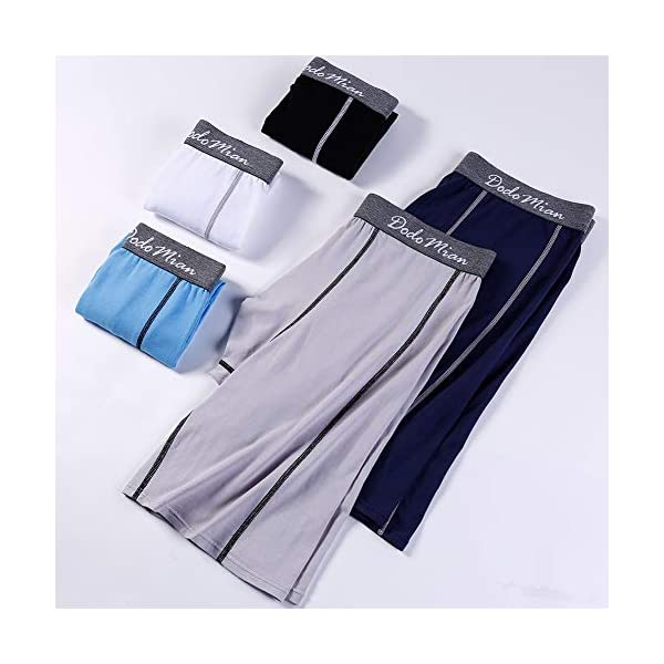 41rYPeEGMUL. SS600  - DODOMIAN Bóxers para Hombre Pack de 5 Ropa Interior de algodón elástico Calzoncillos Underwear