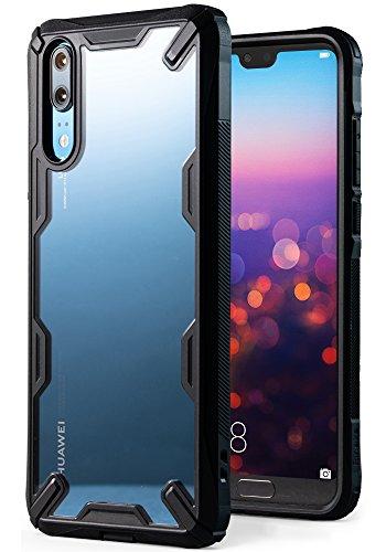 """Ringke Fusion-X Custodia Compatibile con Huawei P20 (5.8"""") Ergonomico [Difesa Militare Testata] Posteriore in PC Bumper in TPU Cover Protezione Paraurti Trasparente Custodia Cover Huawei P20 - Nero"""