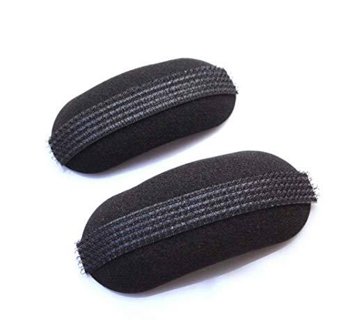 3 pares almohadillas ovaladas negras forma almohada