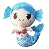 Felpa juega el regalo para el bebé, Niñas lindo encantador de la sirena muñeca rellena