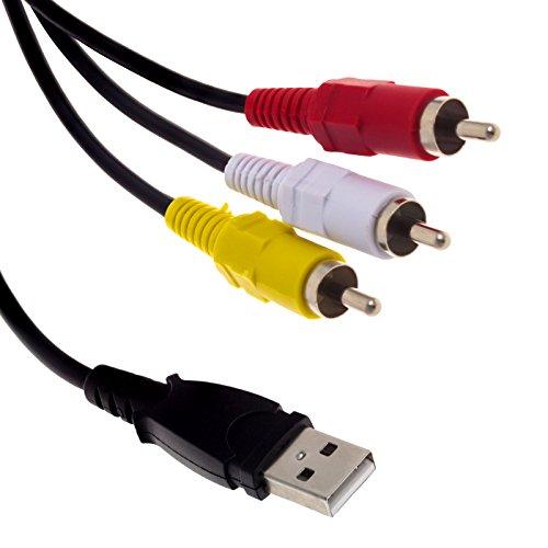 Smartfox 1,5 m USB Typ-A Stecker auf 3X RCA Cinch Stecker Anschluss Kabel Verbindungskabel für Audio und Video Übertragung