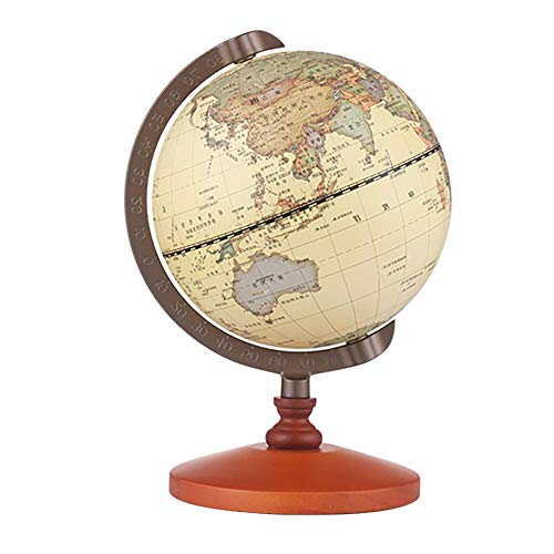 niyin204 Globo Educativo/diámetro del Globo: 14 cm, la Tierra del Mundo físico y político, Adecuado para la decoración y como Regalo Educativo.