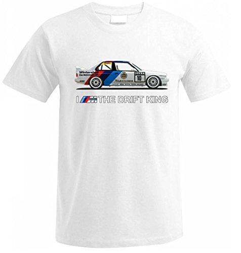 BMW E30 I am the drift king Drift Fan T Shirt Tuning s/m/l/xl/xxl Weihnachtsgeschenke Xmas Weiß