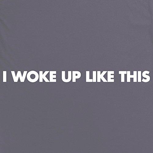 I Woke Up Like This T-Shirt, Damen Anthrazit