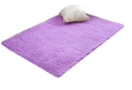 None Design Moderne Style européen Rectangle Forme Salon Chambre Tapis, Différent Couleurs Et Tailles (Violet, 50x80cm)