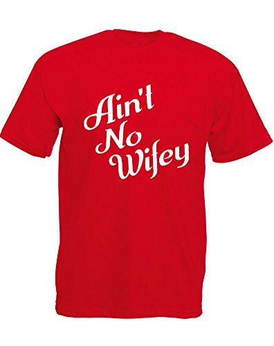 Brand88 - Brand88 - Ain't No Wifey, Mann Gedruckt T-Shirt Rote/Weiß