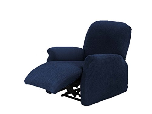 Textilhome - Stretchhusse für Relaxsessel Komplett TEIDE , 1 Sitzer - 70 a 100Cm. Farbe Blau