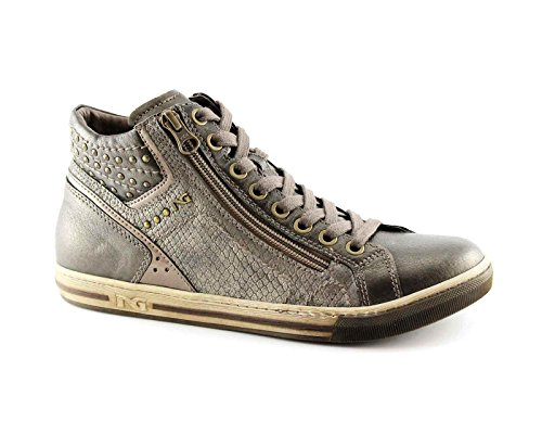 NERO GIARDINI 16040 scarpe donna mid zip sportive sneaker Marrone