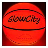 GlowCity Leuchtender Basketball, verwendet zwei sehr helle LED