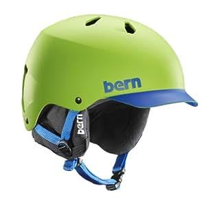 Bern Men's Watts EPS Brim with Black Liner Helmet - Green/Blue, Medium/Large