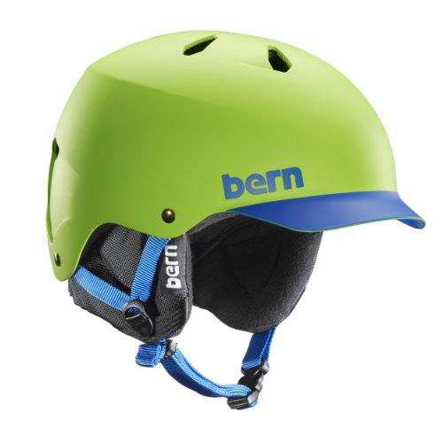 Herren Helm Bern Watts EPS w/ BK Liner Helmet grün grün - Grün/Blau