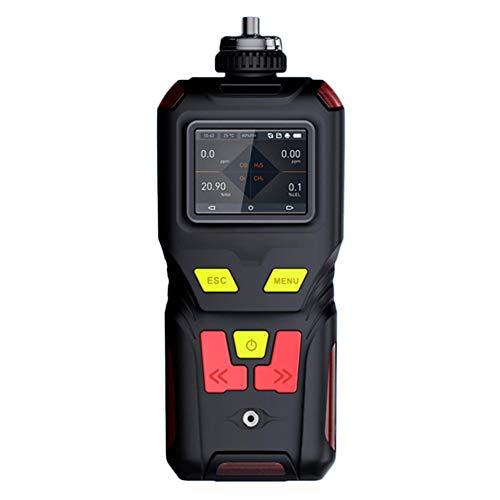 AKAKKSKY 4-in-1 Gasmelder O2 CO H2S LEL Messgerät überwachen Sound Light Vibrationsalarme Farbbildschirm DREI Anzeigemodi Eingebaute Pumpe USB Aufladen DREI Verteidigung -