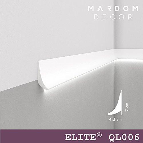 """""""BESTSELLER"""" - Licht Deckenleiste """"QL006"""" - individuelle Wandleiste für indirekte Beleuchtung - 2m Länge - 70mm Höhe"""