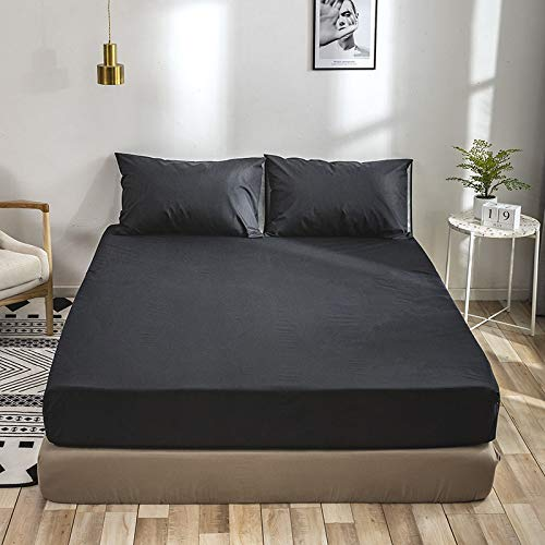 SUYUN Extra elastischer und widerstandsfähiger Matratzenbezug/Matratzenüberzug,Einfarbige Schutzhülle schneeblau 150 * 200cm einzeln -
