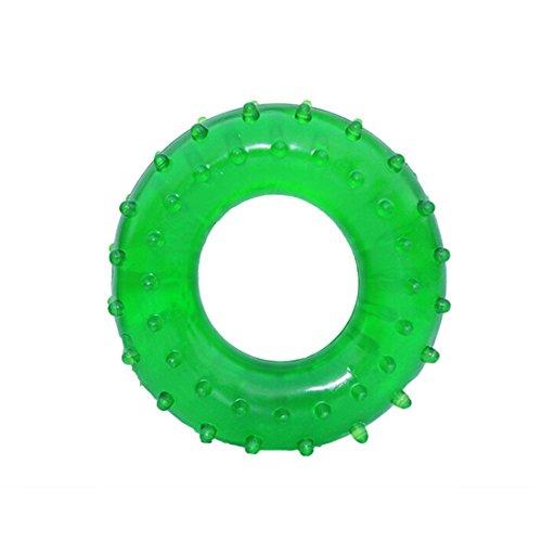 Résistance à la main Grip en caoutchouc Muscle Power Formation facile Poignées Transporteur Fitness/anneau en caoutchouc extensible Préhenseur Vert