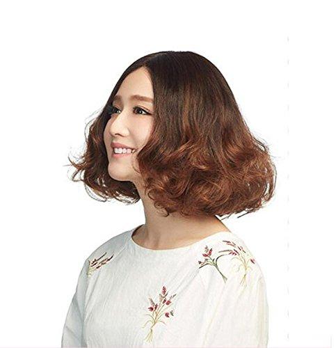 Perücken Kurz Medium lockiges Haar Perücken für Frauen synthetische Perücke Fashion Glamour Haarteil Hitzebeständige Kunstfaser -
