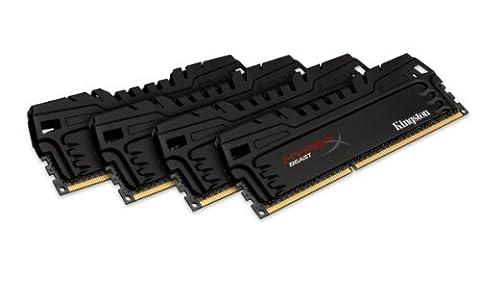 HyperX Beast XMP KHX16C9T3K4/32X Arbeitsspeicher (1600MHz, CL9) DDR3-RAM 32GB Kit (4x8GB)