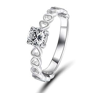 Benwangxintong Ring, herzförmig, Zirkonia, Jahrestag (Nicht 8 8)