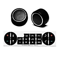 Replacement GM 22912547 Rear Radio Volume Control Knob Button,Gift AC Dash Button Repair Kit for Select GM Vehicles for 07-14 Chevrolet Chevy GMC Buick Cadillac(Pack of 2)