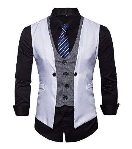 FLYF Herren Anzug Weste Anzug Business Hochzeit
