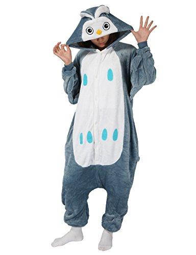 Einhorn Kostüm Karton Tierkostüme Halloween Kostüme Jumpsuit Erwachsene Schlafanzug Unisex Cosplay (Halloween-kostüm Eule)